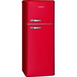 Retro-Doppeltür-Kühlschrank DTR 353 rot
